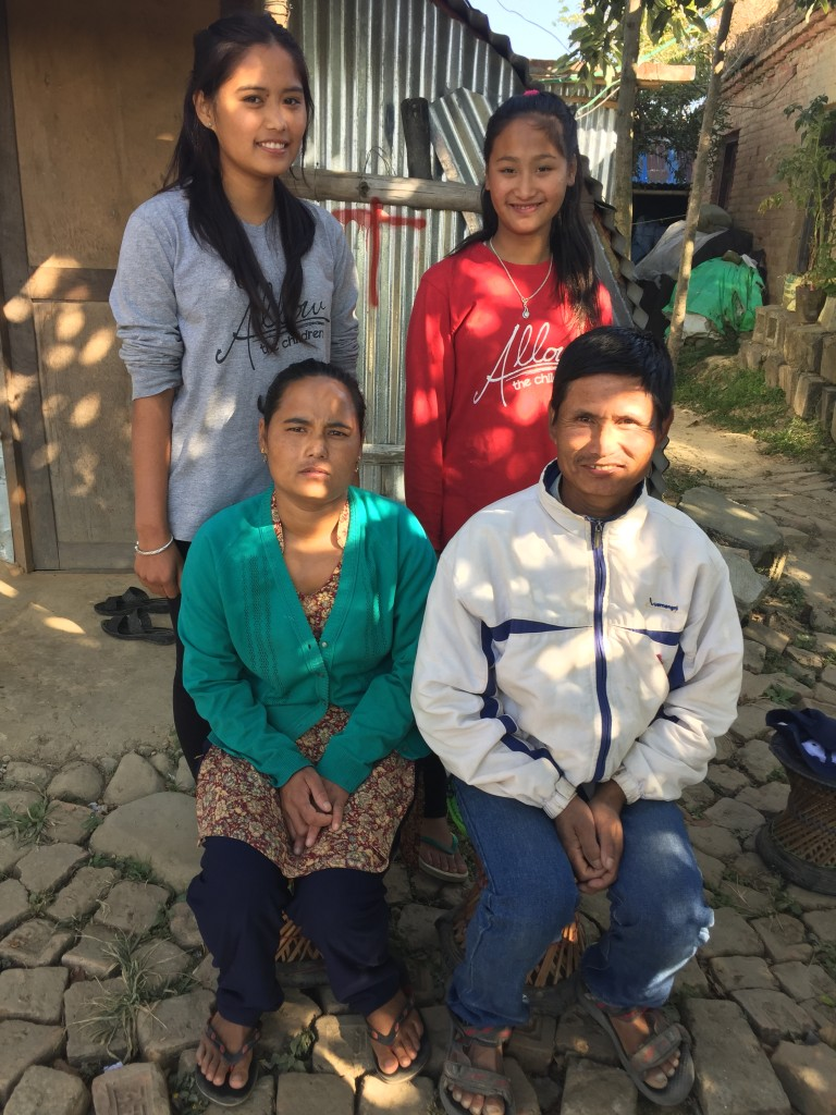 Jyoti Pulami Magar with her parents and sister