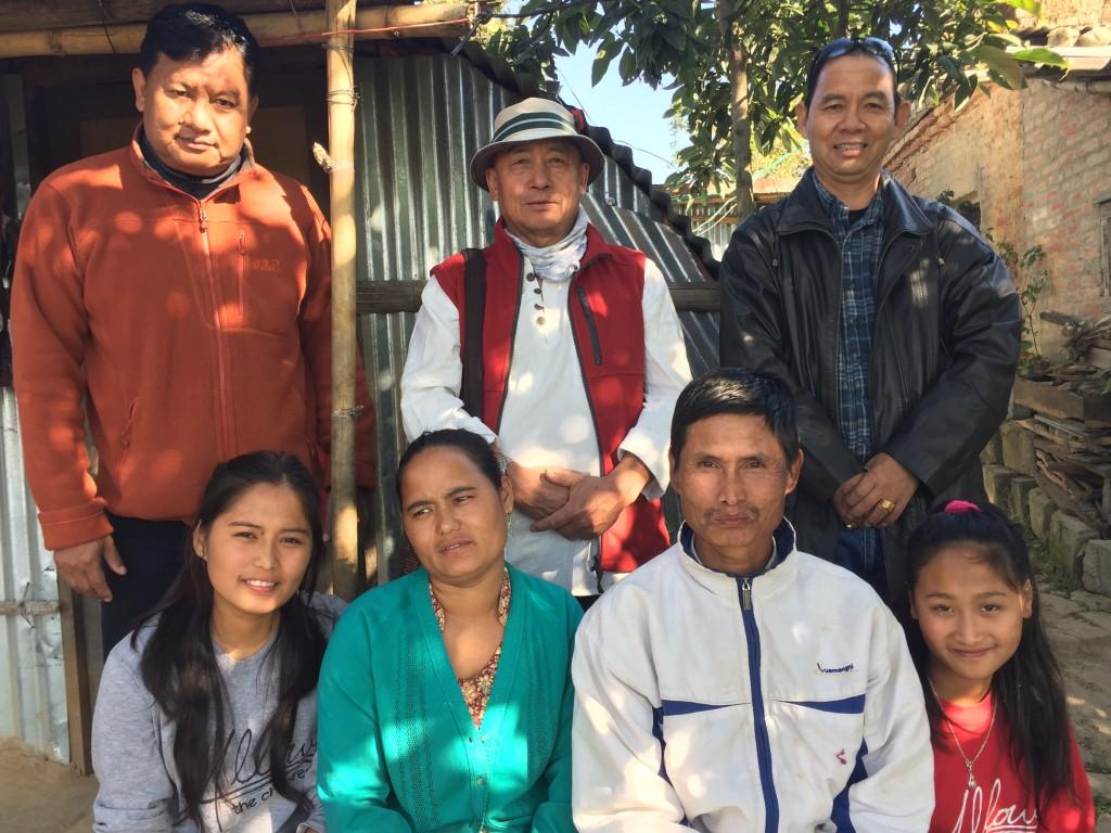 """Jyoti Pulami Magar with her Family and """"Magar Bidhyarthi Utthan Samaj""""'s Working Committee"""